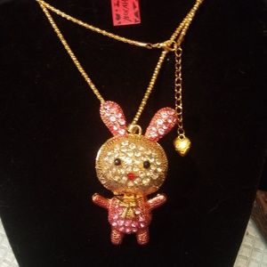 Betsey Johnson Cute Bunny Rabbit Necklace